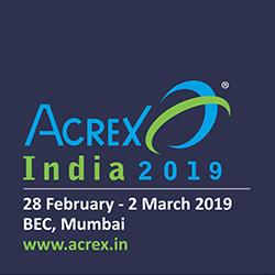 Логотип выставки Acrex в Индии
